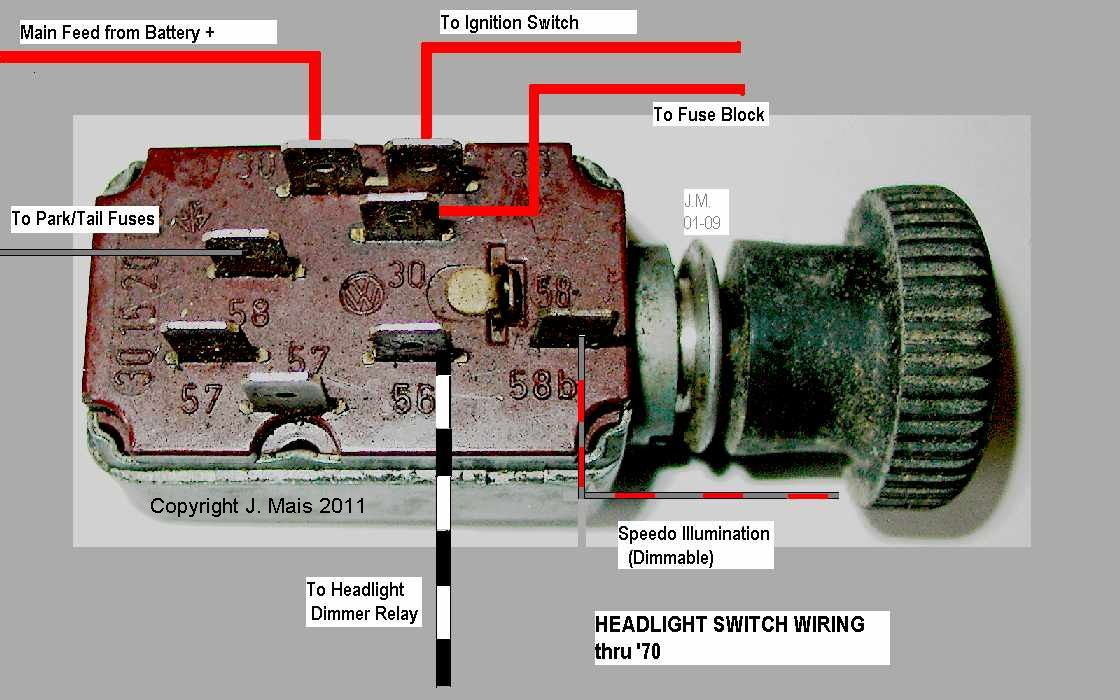 1970 Vw Headlight Switch Diagram - K2 Wiring Diagram Headlight Switch Wiring Diagram Vw Bug on